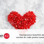 Cincisprezece beneficii ale sucului de rodie pentru sanatate