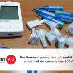 Gestionarea prompta a glicemiei in cazul epidemiei de coronavirus (COVID-19)