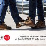 Ingrijirile piciorului diabetic, pe fondul COVID-19, este importanta, spun specialistii