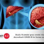 Boala ficatului gras (stenoza hepatica) creste riscul dezvoltarii COVID-19 in forma severa