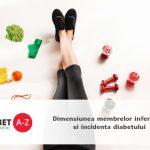 Dimensiunea membrelor inferioare si incidenta diabetului
